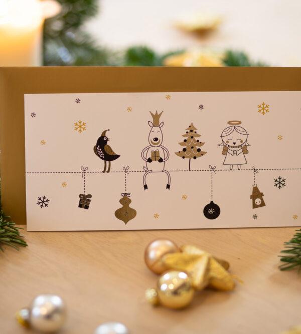 Braves Christkind Weihnachtsbillett mit Botschaft