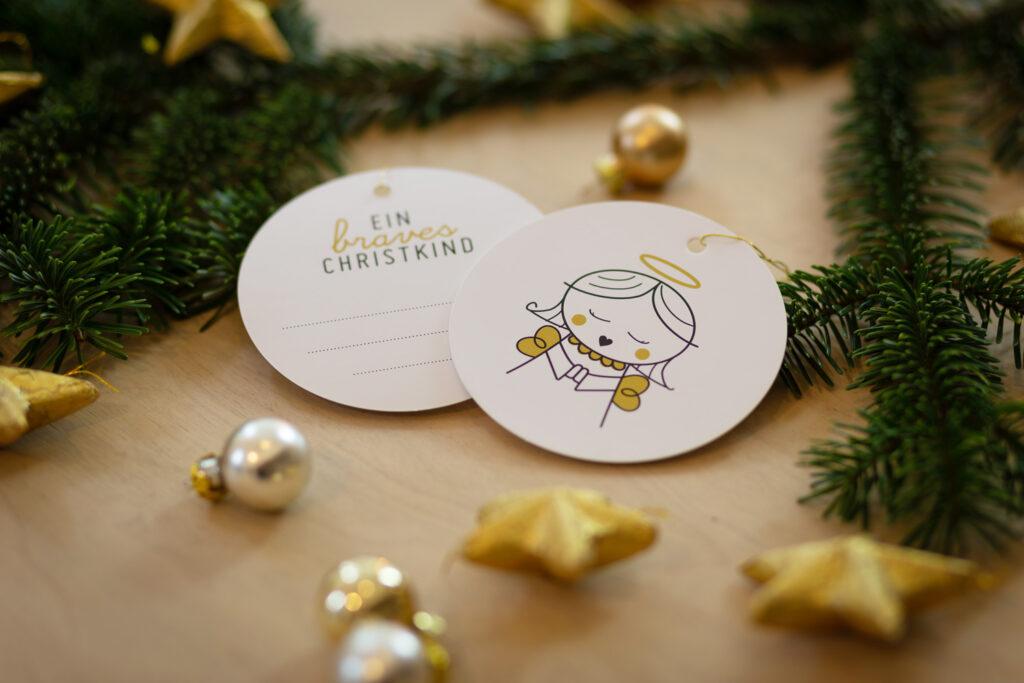 Geschenkanhänger braves christkind