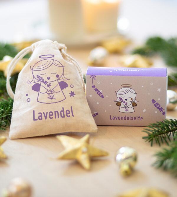 Weihnachtliches Lavendel-Package vom braven Christkind