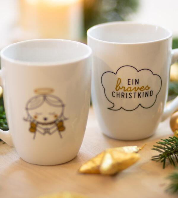 Weihnachtstasse mit Christkind-Motiv, Steiermark