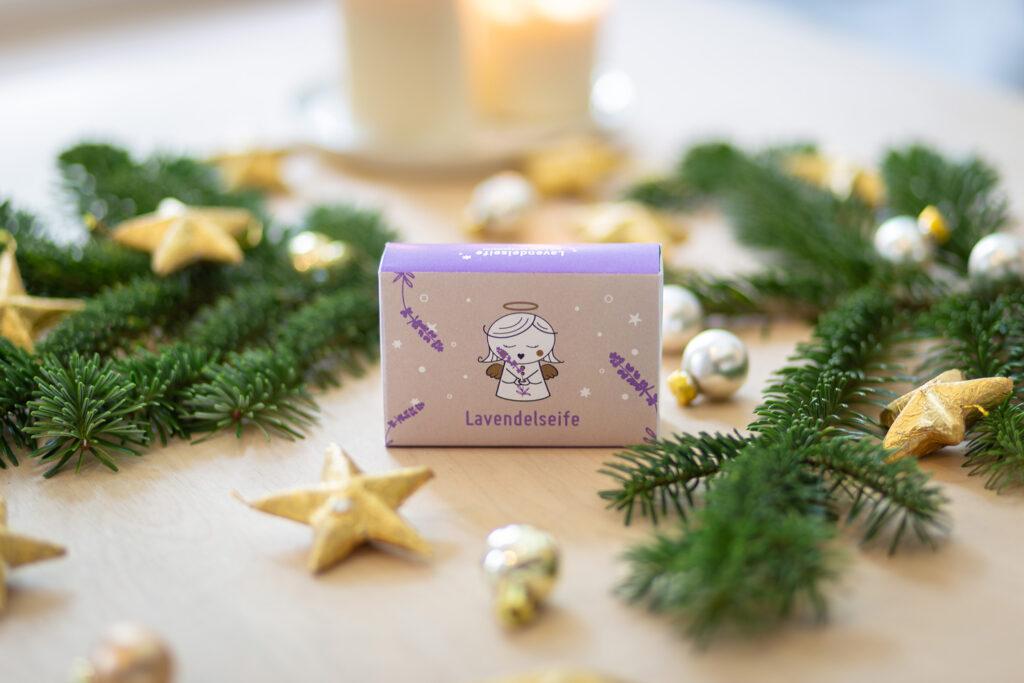 Weihnachtliche Lavendelseife braves Christkind