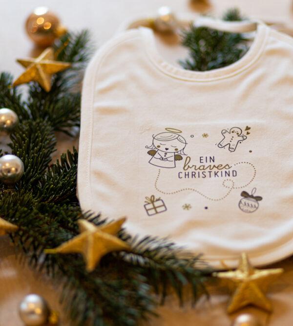 Baumwolllätzchen für Babys und Kleinkinder vom braven Christkind.