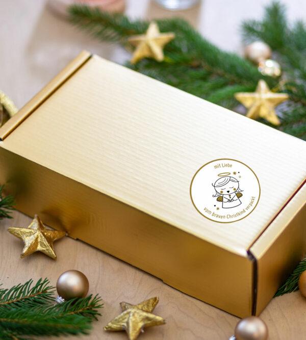 Shop BravesChristkind Produkt Schachtel Gold bea